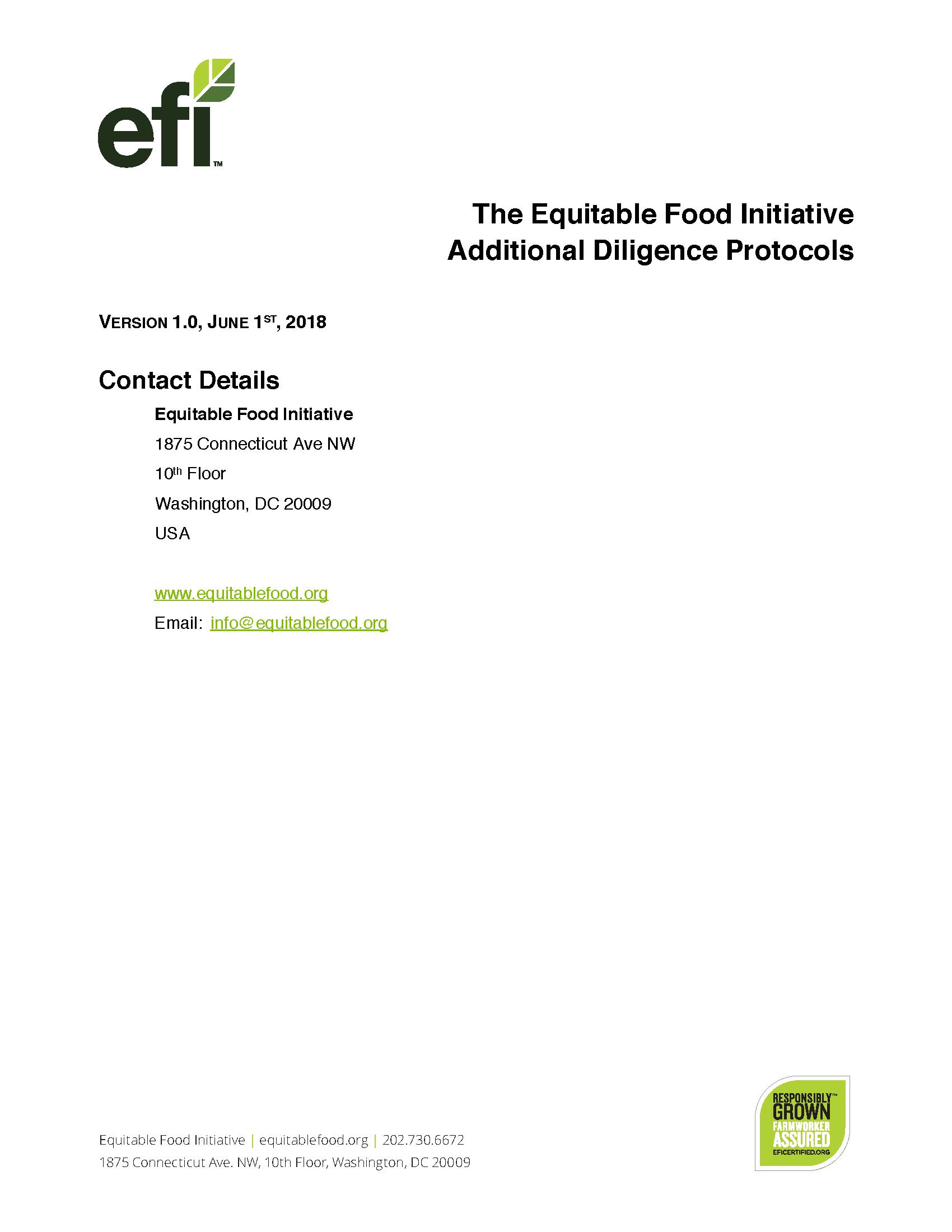 Efi Standards Equitable Food Initiative