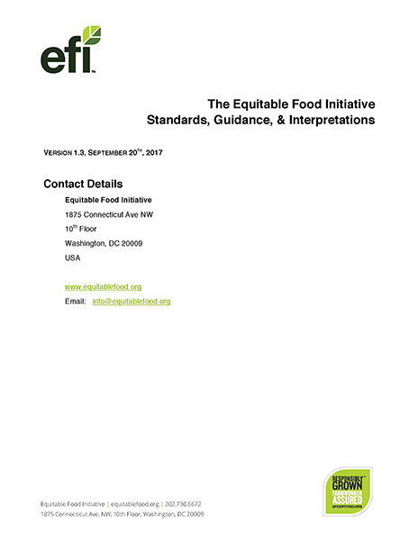 EFI Standards - Equitable Food Initiative